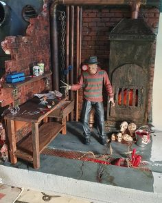 Horror Action Figures, Doll Toys, Dolls, Halloween Doll, Diorama, Diecast, Man Cave, Galleries, Creepy
