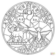 104 Best Coloring pages: Catholic coloring pages holy trinity Trinity Symbol, Catholic Coloring, Catholic Symbols, Trinity, Catholic Art, Coloring Pages, Christian Symbols, Sacred Art