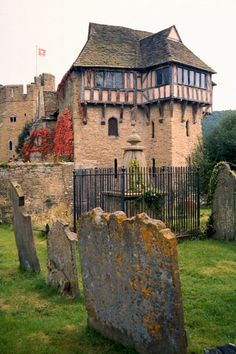 Stokesay Castle is a fortified manor house in Stokesay, Shropshire, England. It was built in the late 13th century by Laurence of Ludlow, then the leading wool merchant in England, who intended it to form a secure private house and generate income as a commercial estate.