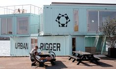 Urban Rigger says the shipping containers, made entirely of Corten Steel, are upcycled to save on materials, energy, and cost.