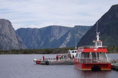 Rocky Harbour, Newfoundland and Labrador Canada Date shot: July 2013 Western Brook Pond Boat tour in beautiful Gros Morne National Park. Newfoundland And Labrador, Boat Tours, Salt And Water, Homeland, Cool Places To Visit, Trip Planning, Pond, National Parks, Canada