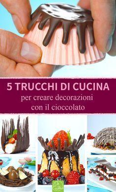 Chocolate Work, Chocolate Bowls, Chocolate Treats, Chocolate Blanco, Chocolate Garnishes, Food Garnishes, Fancy Desserts, Köstliche Desserts, Cake Decorating Techniques