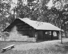 National Park sturctures   shelter backbone state park iowa shelter springbrook state park iowa