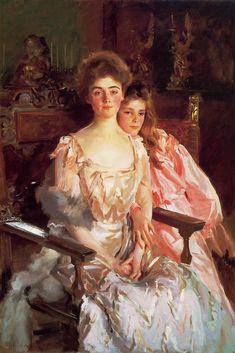 John Singer Sargent - Portrait of Mrs. Fiske Warren (Gretchen Osgood) and her Daughter Rachel