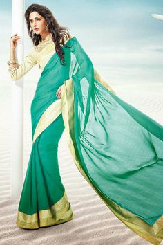 GORGEOUS SEA GREEN SAREE To place order click on the Image OR Call us or Whatsapp us: +918968017642,+917837798330