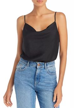 Giselle Cowl-Neck Bodysuit | #Bodysuit | Pear Fashion, Cowl Neck Top, Party Looks, Black Bodysuit, Holiday Outfits, Casual Looks, Style Me, Camisole Top, Fashion Outfits