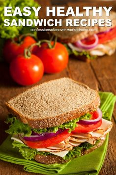 Tired of the same old sandwich? Look at these Healthy Sandwich Ideas for National Bread Month and try something new today. Cold Sandwiches, Healthy Sandwiches, Homemade Sandwich, Chicken Sandwich Recipes, Sandwich Ideas, Healthy Lunches For Kids, Vegetarian Breakfast Recipes, Entree Recipes, Health