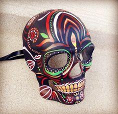 Mens Halloween Masquerade Day of the Dead Dia De Muertos Sugar Skull Mask