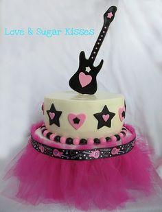 guitar cake food