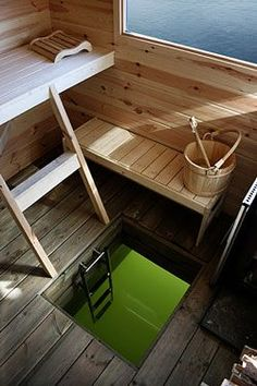 Sauna boathouse - the dream Portable Steam Sauna, Sauna Steam Room, Sauna Room, Saunas, Sauna House, Outdoor Sauna, Sauna Design, Finnish Sauna, Floating House