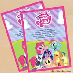 Click here to download a FREE Printable My Little Pony Birthday Invitation Set!
