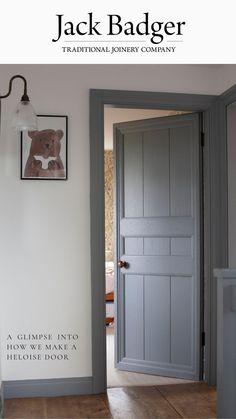 Farmhouse Interior Doors, Grey Interior Doors, Interior Door Colors, Interior Door Styles, Painted Interior Doors, Painted Doors, Wood Doors, Decor Home Living Room, Indoor Doors