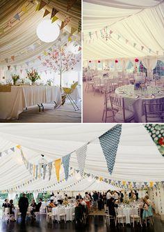 marquee bunting wedding