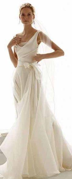 Beautiful elegant wedding gown