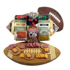 Halftime Favorites, Football Cutting Board Gift Basket - Father's Day