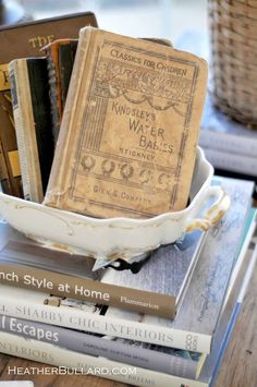 Antique books - loved the water babies when I was a child!