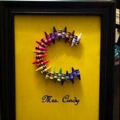DIY Crayon Initial