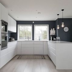 1379 Likes 14 Kommentare Janne Iversen ( Haus Design Ideen Home Decor Kitchen, Interior Design Kitchen, New Kitchen, Home Kitchens, Kitchen Dining, White Ikea Kitchen, Küchen Design, House Design, Design Model