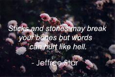 Sticks and Stones - jeffree star