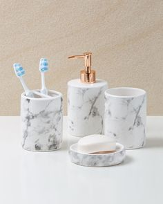 nice Marble Look and Rose Gold Bathroom Accessories from only $3. In Stores now... by http://www.best100homedecorpics.us/home-decor-accessories/marble-look-and-rose-gold-bathroom-accessories-from-only-3-in-stores-now/