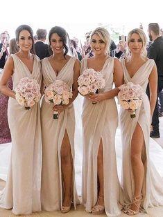 Beige Bridesmaids, Ruffles Bridesmaid Dresses, Champagne Bridesmaid Dresses, Wedding Bridesmaids, Maxi Dresses, Chiffon Dresses, Bridesmaid Robes, Burgundy Champagne Wedding, Bridesmaid Dresses Canada