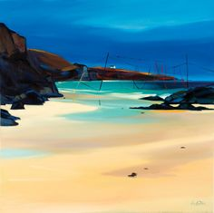 Drying Lines Limited Edition - ART PRINT BY PAM CARTER, SCOTTISH ARTIST