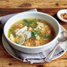 Classic Italian Soup Recipes | Italian Wedding Risotto Soup  | MyRecipes.com