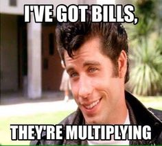 Image result for paying bills meme