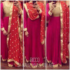Pink floor length anarkali with contrasting heavy orange dupatta with sequin… Indian Wedding Outfits, Pakistani Outfits, Indian Outfits, Anarkali Dress, Long Anarkali, Anarkali Suits, Punjabi Suits, Lehenga, Saree