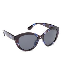 bc254ea7a24eb This Blue Pattern Polarized Base 6 Cat Eye Sunglasses - Women is perfect!   zulilyfinds