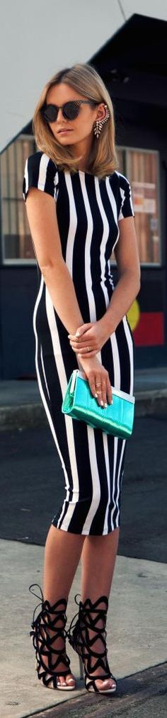 Very cool, but she is awfully tall and skinny and the vertical stripes do accentuate that.