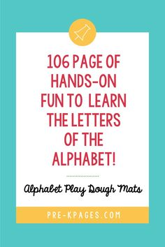 These alphabet play dough mat pages are perfect for fine motor practice! They are a fun, hands-on way to practice and learn the letters of the alphabet. 😀 You can laminate and reuse the color pages or put them in page protectors. 👍 Pre K Pages, Page Protectors, Kids Learning Activities, Early Education, Alphabet, Play, Infant Learning Activities, Alpha Bet, Early Years Education