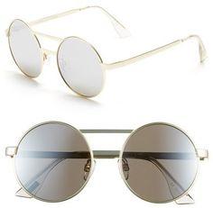 0a63a23f8e6 Le Specs  Vertigo  50mm Sunglasses Circle Lens Glasses