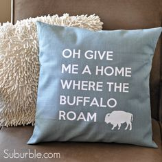Home On The Range: An Accent Pillow (with free cut file!) - Suburble