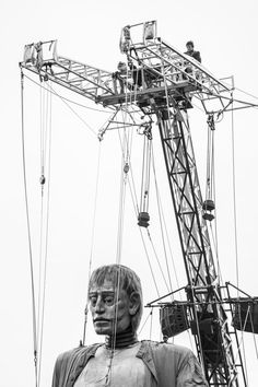 THE GIANT AWAKES - While I went to see the Royal de luxe giant puppets in Liverpool, I was amazed by their sheer size, ingenuity and beauty! This is the Giant Uncle waking up for the restart of the parade Photography Portfolio, Puppets, Liverpool, Fair Grounds, Beauty, Beauty Illustration, Doll, Hand Puppets