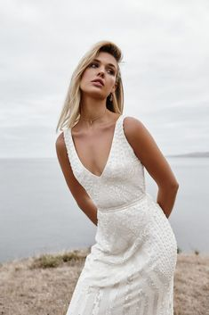 beaded wedding dress The FONTANNE gown from the LUXE collection by Karen Willis Holmes. Hand beaded wedding gowns, re-defined for the modern bride Beaded Wedding Gowns, Stunning Wedding Dresses, Princess Wedding Dresses, Wedding Dress Styles, Bridal Dresses, Lace Wedding, Gown Wedding, Mermaid Wedding, Dream Wedding