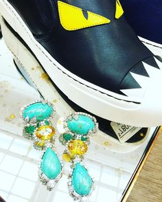 Sterling Silver Jewelry, Fendi, Gems, Slip On, Pairs, My Style, Sneakers, Instagram Posts, Shoes