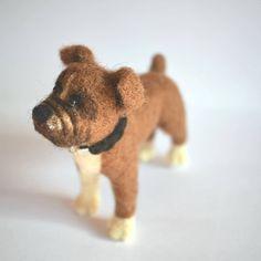 Boxer dog  needle felted dog  Custom needle felted animal