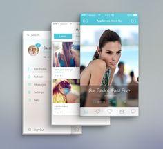 App Screen #PSD Mock-Ups by Raul Taciu