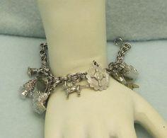 Vtg Charm Bracelet 11 Charms Most Are Stamped Sterling | eBay