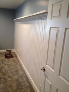 Fresh Beadboard Basement Walls