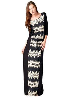 www.dwellingsathome.com Aztec Maxi Dress