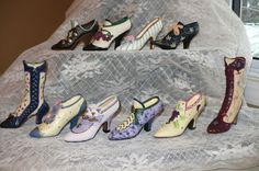 10 Collectible Mini Shoes Resin 4 in.Gifts Stocking Stuffers New High Heels Boot