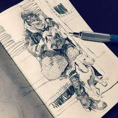 There's some awesome #art going on in André Wee's #Sketchbook