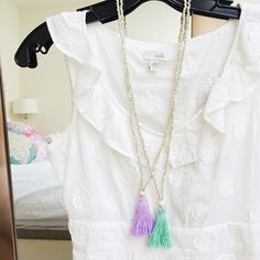 Silver Skate Tassel Necklace 15% goes back to the WI Humane Society this month! www.shoplizzibeth.com