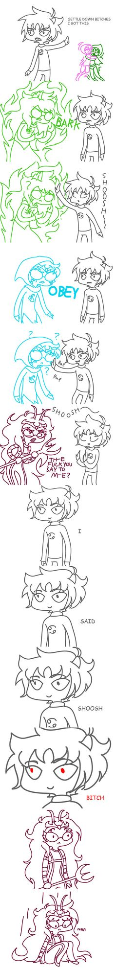 I don't own this; belongs to http://inuleeli.tumblr.com/post/43279812786/karkat-to-the-rescue