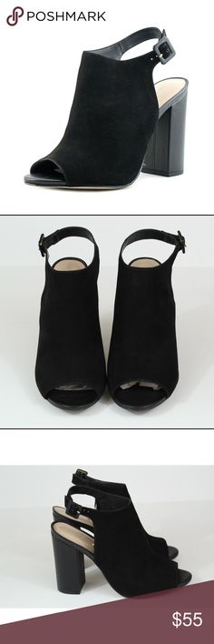 Aldo Juliusa Peep toe suede Sling back block heel Aldo Peep toe sling back Ankle Bootie in Black suede leather. Size 11. Excellent used condition. Worn only a handful of times and look practically new. No modeling and no trades. Feel free to ask any questions. Aldo Shoes Heels