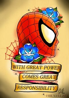Spider-Man flash traditional style tattoo design
