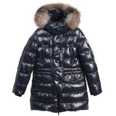 Girls Dark Navy Blue Padded Coat | Dark navy blue and Kids online