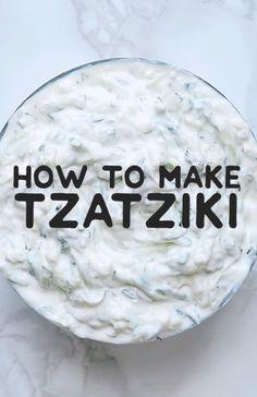 Best Tzatziki Recipe, Tzatziki Recipes, Cucumber Recipes, Dill Recipes, Recipes For Cucumbers, Feta Cheese Recipes, Sauce Recipes, Cooking Recipes, Vegetarian Recipes